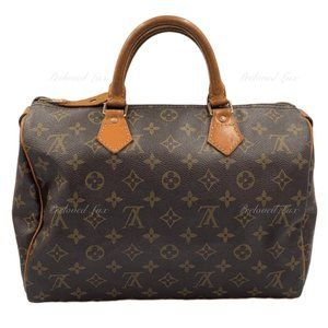 Authentic LOUIS VUITTON Monogram Speedy 30 Bag